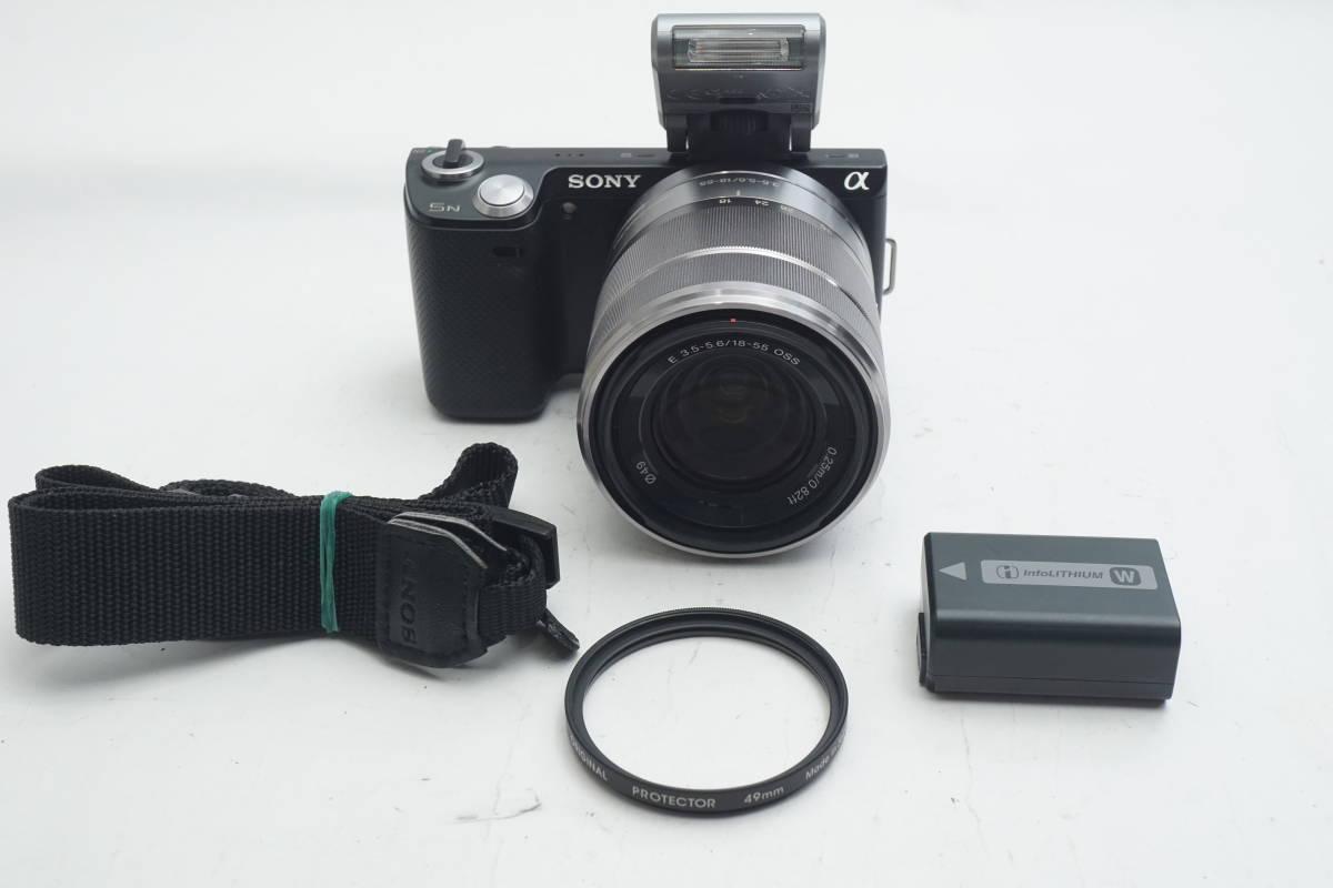★極上美品★ SONY NEX-5N SEL1855 E 18-55mm F3.5-5.6 OSS ソニー 標準ズームレンズキット ミラーレスカメラ Eマウント α ブラック_画像10