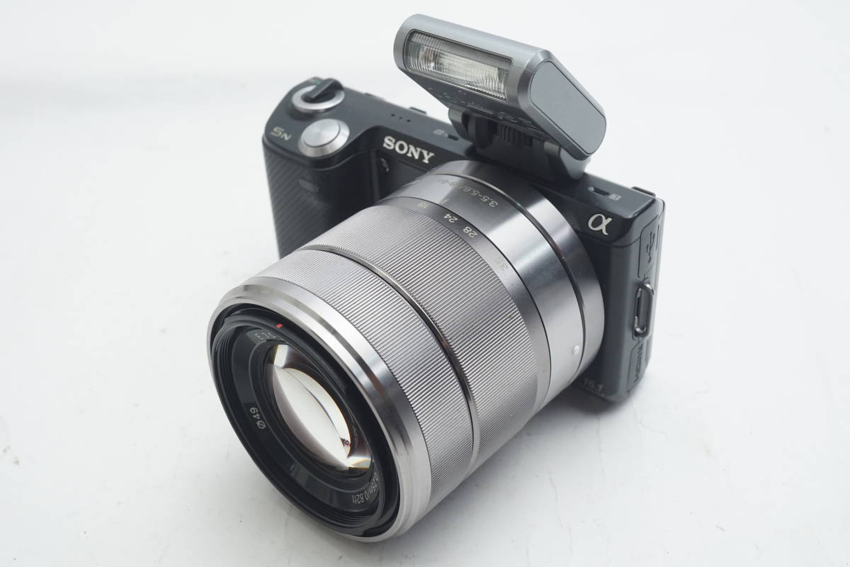 ★極上美品★ SONY NEX-5N SEL1855 E 18-55mm F3.5-5.6 OSS ソニー 標準ズームレンズキット ミラーレスカメラ Eマウント α ブラック_画像2