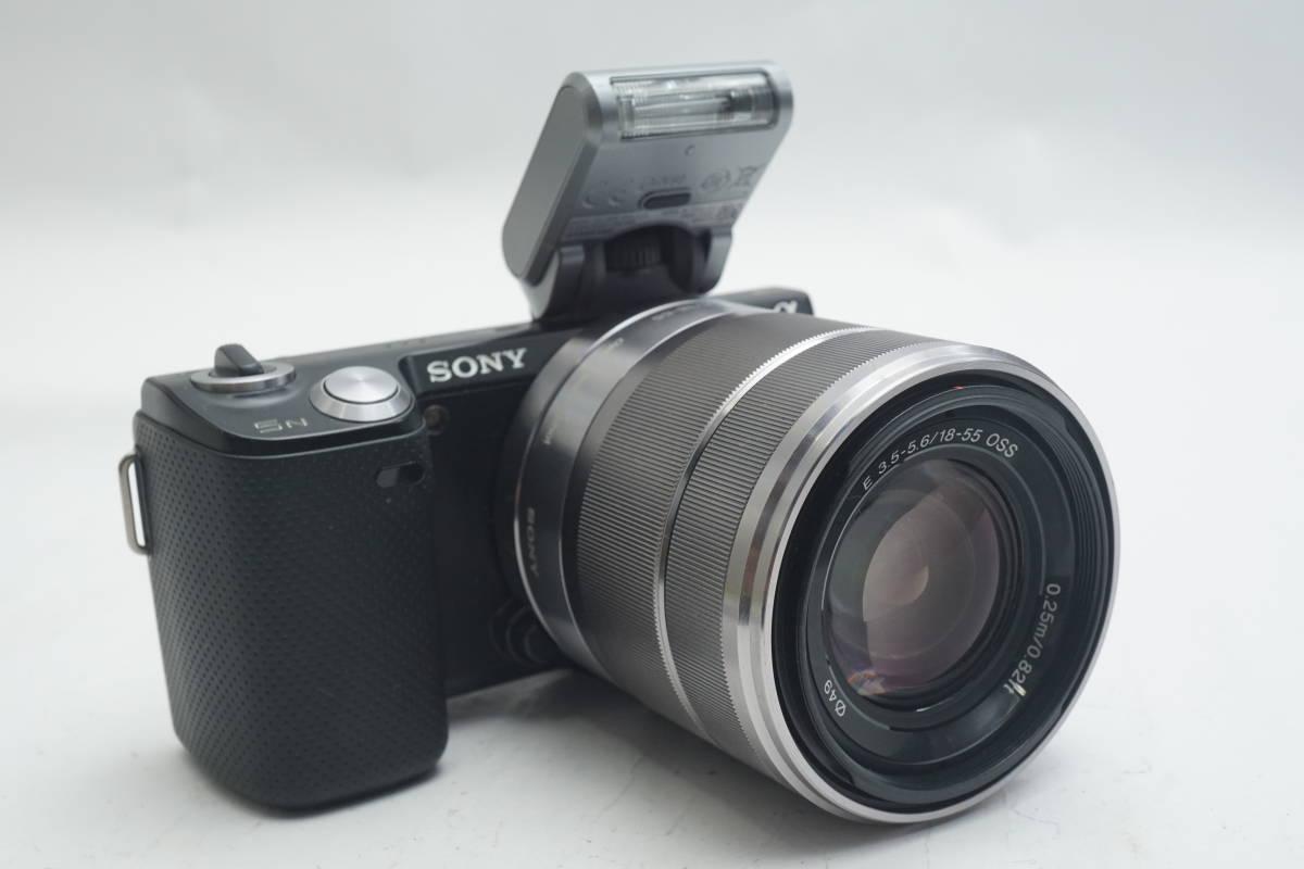 ★極上美品★ SONY NEX-5N SEL1855 E 18-55mm F3.5-5.6 OSS ソニー 標準ズームレンズキット ミラーレスカメラ Eマウント α ブラック_画像1
