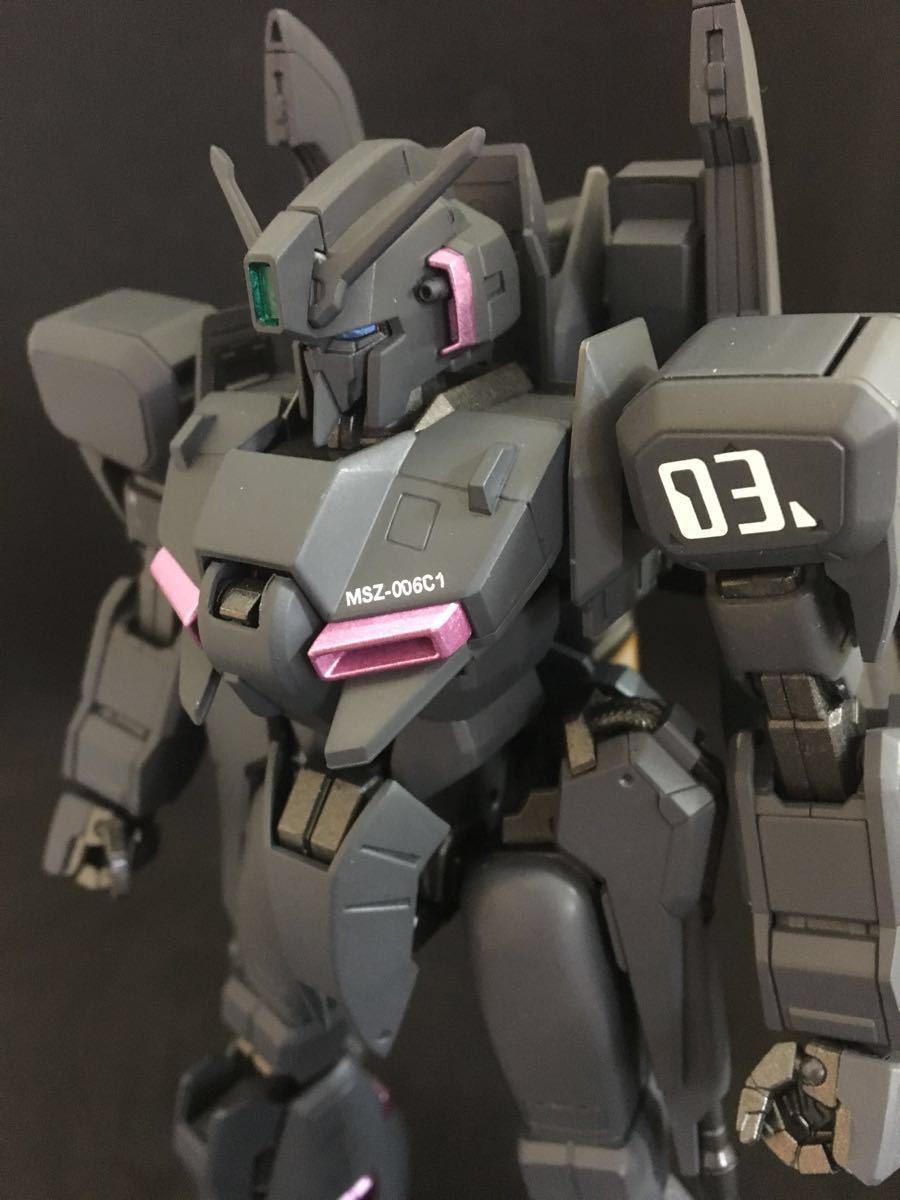 バンダイ MG 機動戦士ガンダム ZETA plus C1 塗装済 完成品 全塗装 ジャンク(ゼータプラス Z ガンダム hg mg pg rg )