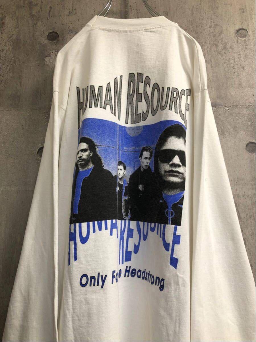 92年製 Human resource ヒューマン リソース ロングt tシャツ バンドt ロンt ヴィンテージ aphex twin rave avid house 90s テクノ techno