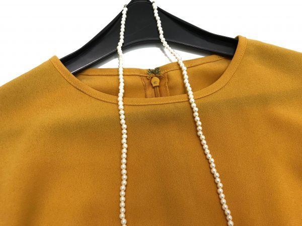 ◆新品同◆GALLARDAGALANTE◆(ガリャルダガランテ フリル袖ブラウス 半袖トップス 黄色 イエロー Fサイズ)_画像3