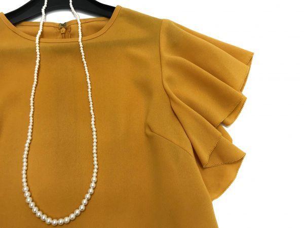 ◆新品同◆GALLARDAGALANTE◆(ガリャルダガランテ フリル袖ブラウス 半袖トップス 黄色 イエロー Fサイズ)_画像5