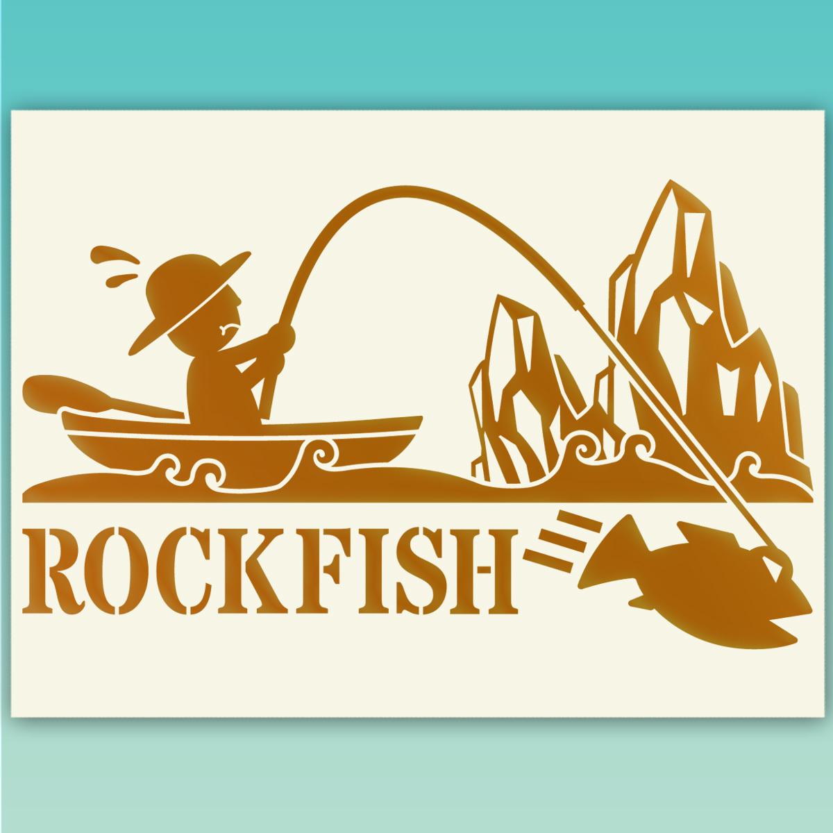 ●ROCKFISH ロックフィッシュ 釣り フィッシングステッカー  517 金色または銀色_画像1