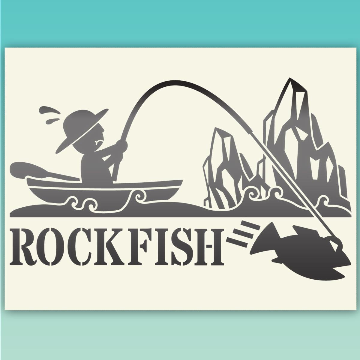 ●ROCKFISH ロックフィッシュ 釣り フィッシングステッカー  517 金色または銀色_画像2