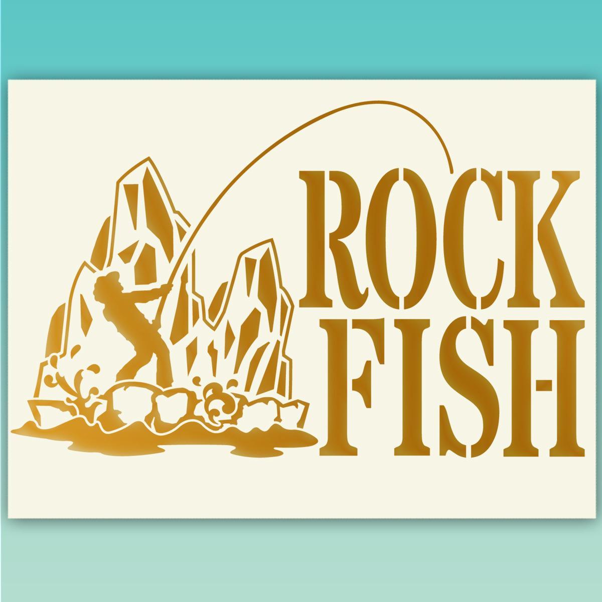 ★ROCKFISH ロックフィッシュ 釣り フィッシングステッカー  518 金色または銀色から選べる_画像1