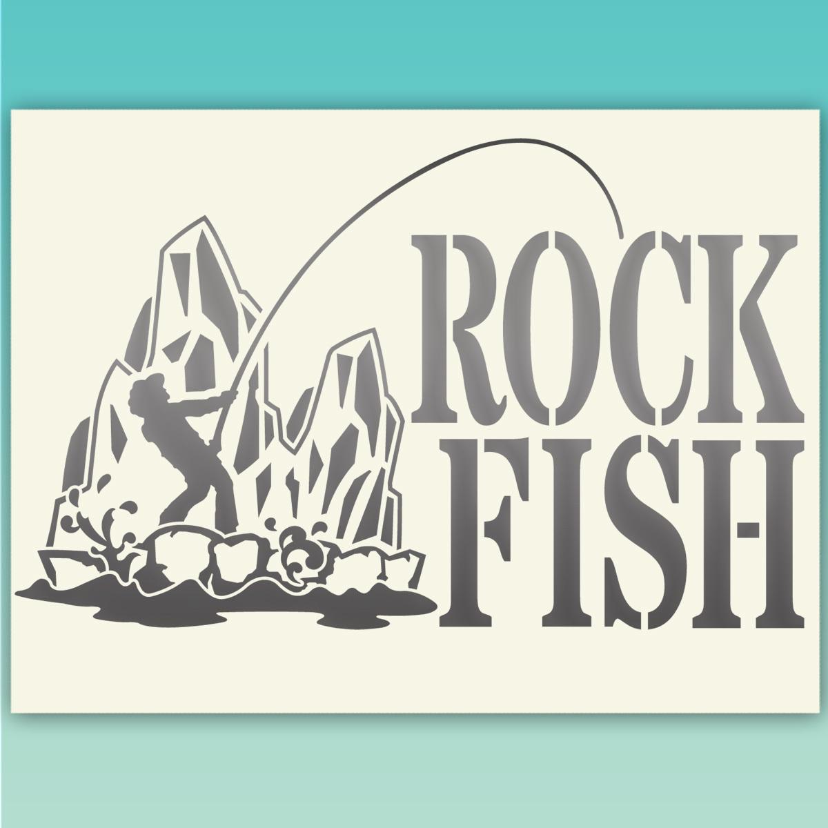 ★ROCKFISH ロックフィッシュ 釣り フィッシングステッカー  518 金色または銀色から選べる_画像2