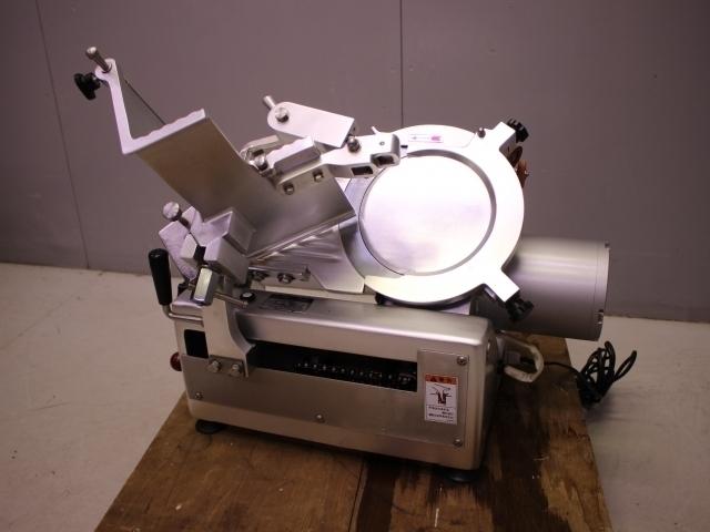 05-13389 美品 南常 ハムスライサー(焼豚スライサー) YBS-1 業務用 スライサー 電源100V ステンレス 適応温度 冷蔵 常温 加工食品 カッター_画像1