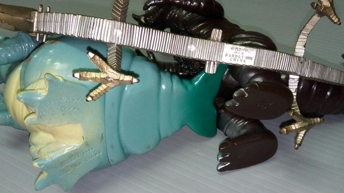 怪獣ソフビ ナース バキシム コダラー テレスドン バルタン星人 ゴモラ メトロン星人 日本製 中国製_画像10