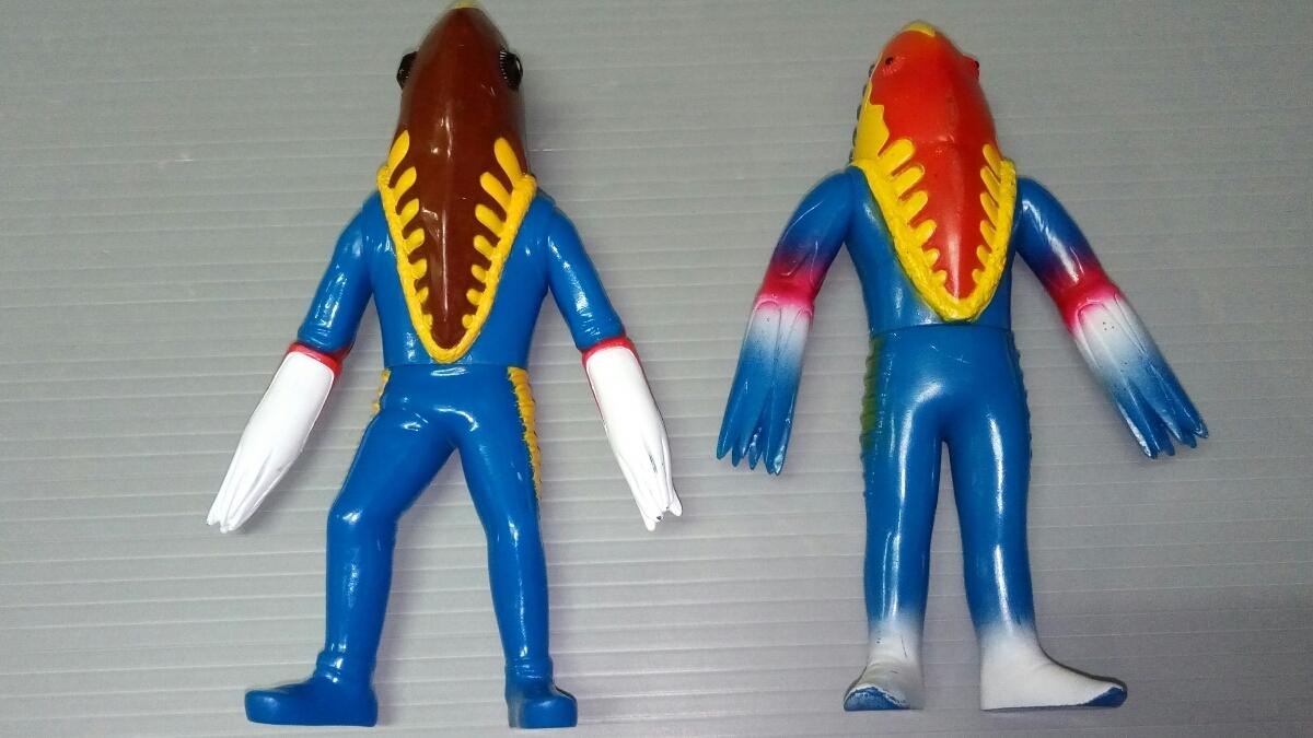 怪獣ソフビ ナース バキシム コダラー テレスドン バルタン星人 ゴモラ メトロン星人 日本製 中国製_画像3
