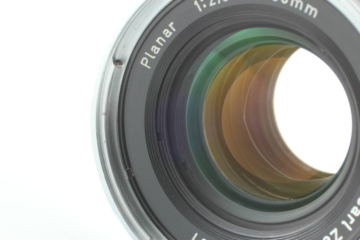 【レア!即決 超美品 保障付 動作確認済 Chrome T*】Hasselblad Zeiss Planar C 80mm f/2.8 ハッセルブラッド クローム ツァイス C715J_画像3