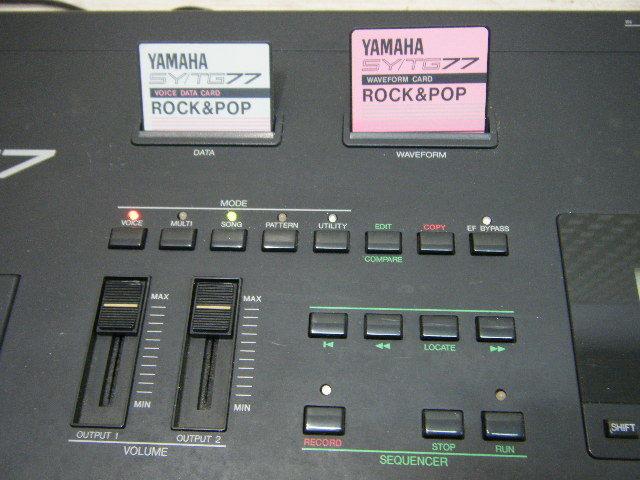 Aの12▲カード付属 YAMAHA( ヤマハ ) SY77 Keyboard キーボード◇シンセサイザー◇Vintage Syntheiszer_画像5