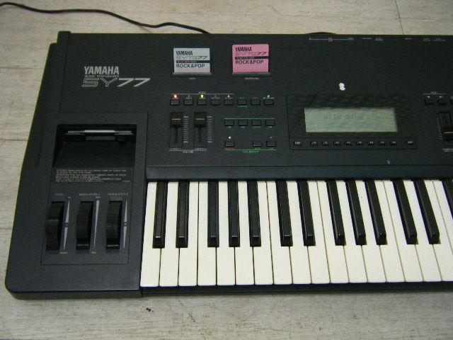 Aの12▲カード付属 YAMAHA( ヤマハ ) SY77 Keyboard キーボード◇シンセサイザー◇Vintage Syntheiszer_画像3