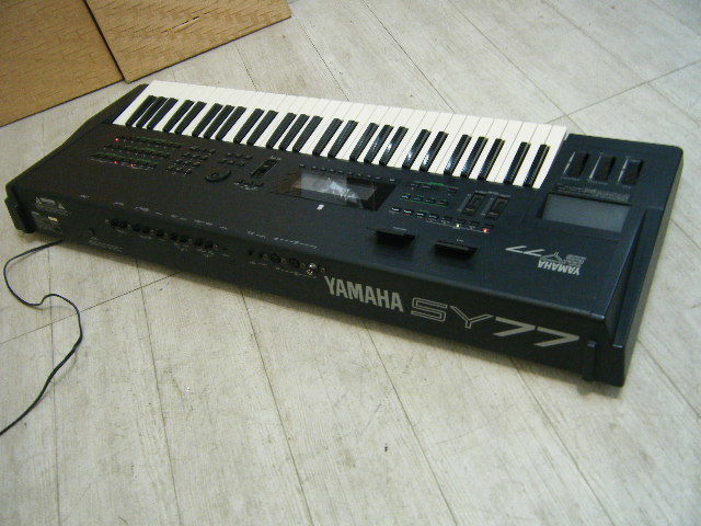 Aの12▲カード付属 YAMAHA( ヤマハ ) SY77 Keyboard キーボード◇シンセサイザー◇Vintage Syntheiszer_画像8