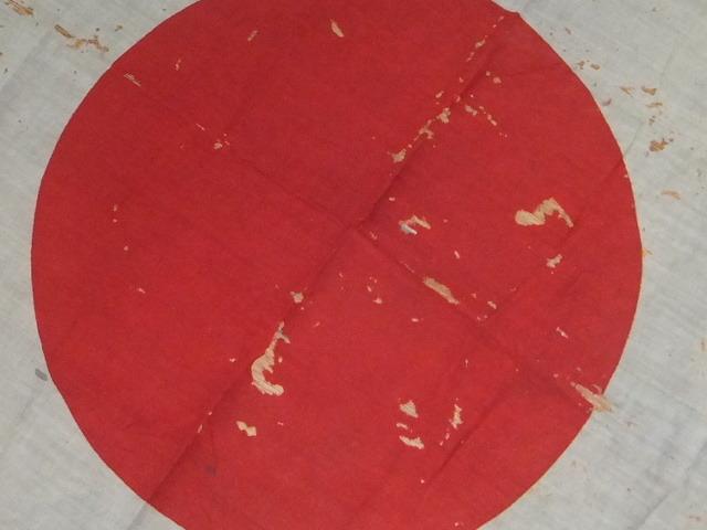 雰囲気抜群 虫食芸術アート 戦前戦中戦後 旗 日の丸 旧日本 ジャパンヴィンテージアンティークフラッグ 舞台小物や資料★0719TGG06 _画像3