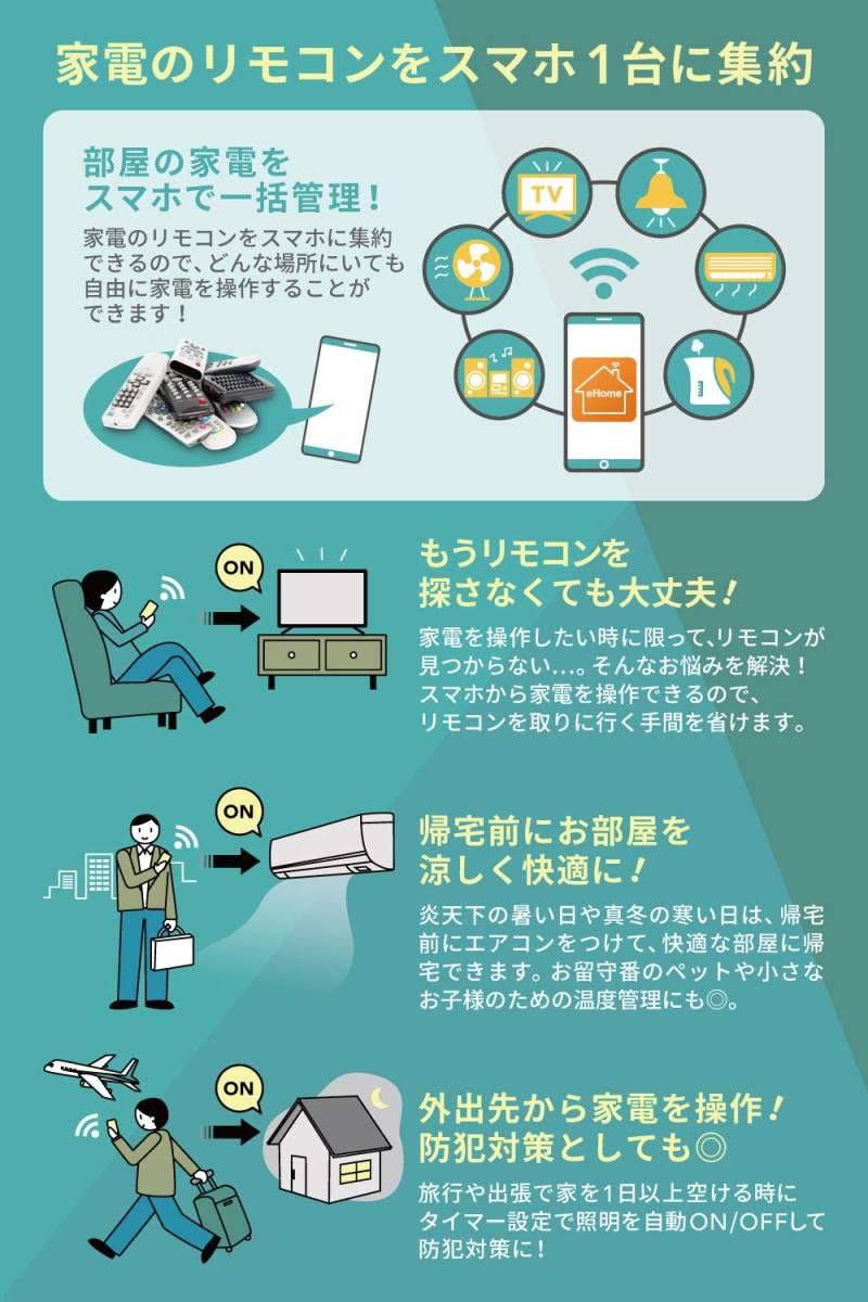 【新品・未開封・送料無料】LinkJapan eRemote mini IoTリモコン IFTTT対応【Works with Alexa認定製品】_画像7