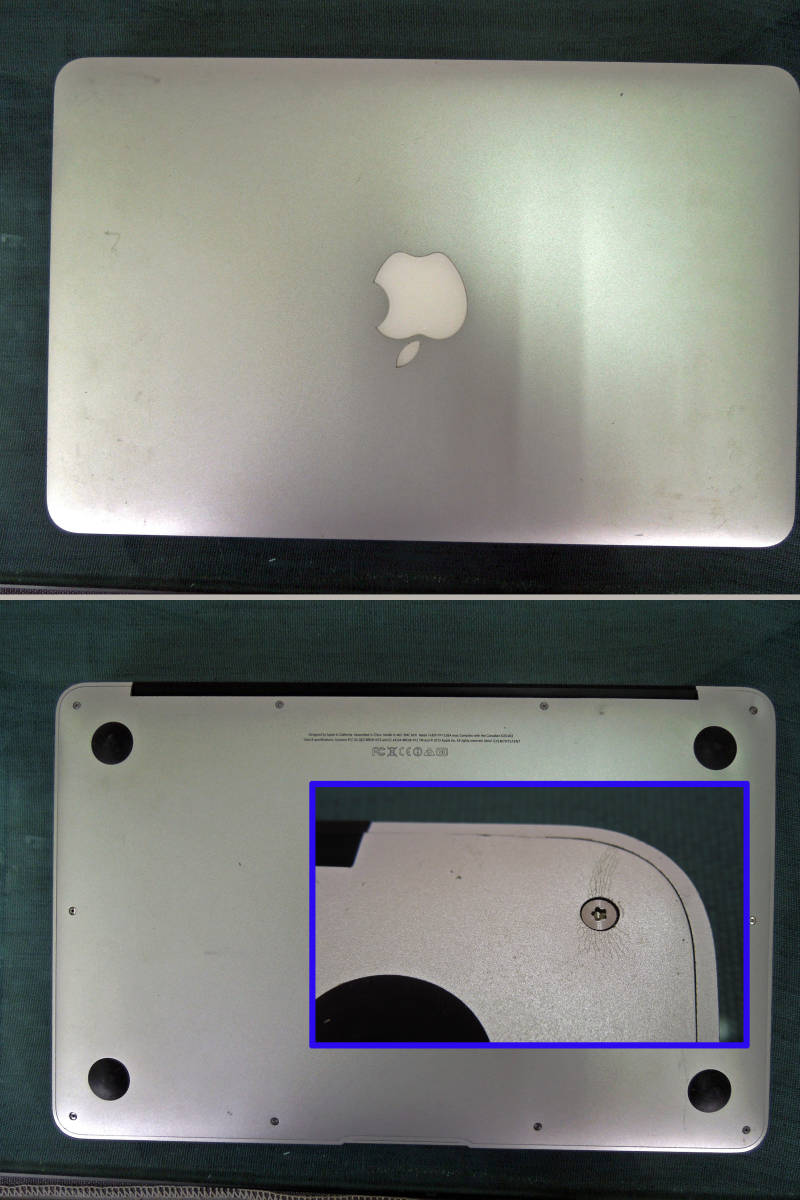 Apple MacBook Air A1465 11インチ Mid2013 SSDなし 起動OK      【管10668】_画像8