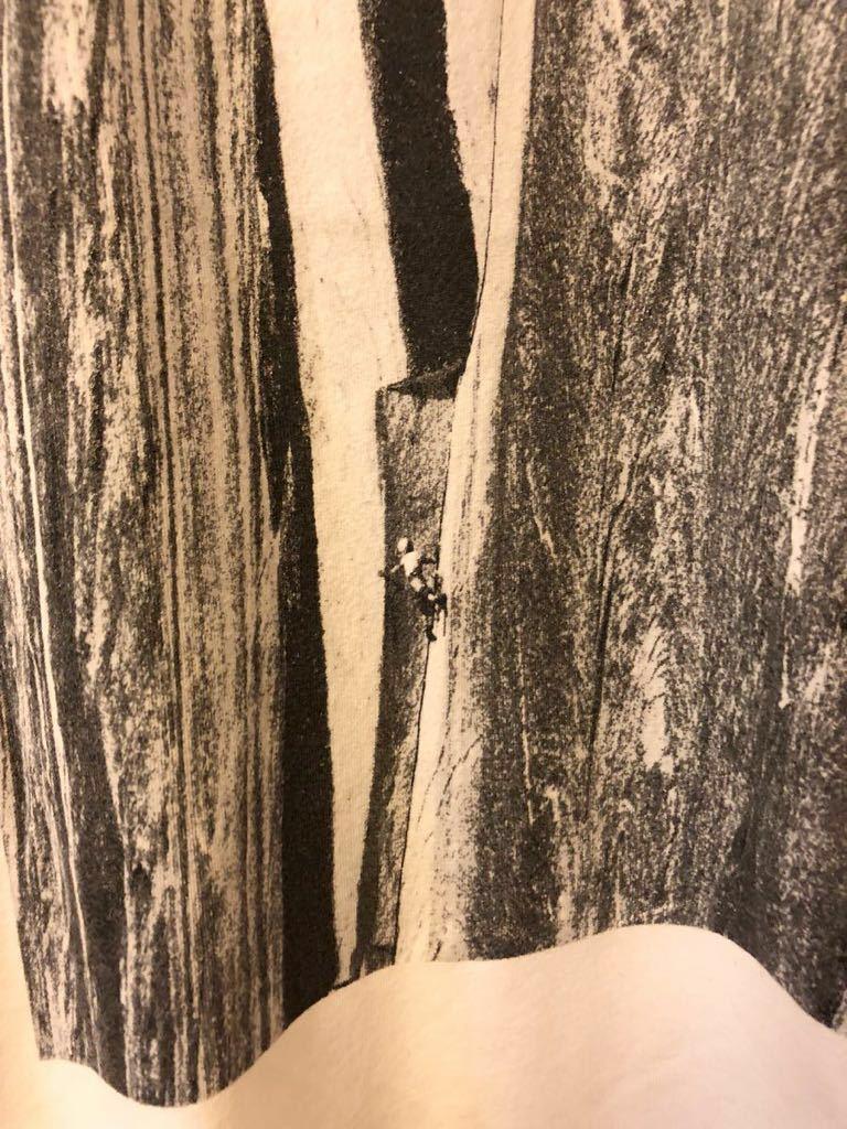 100円~希少 激レア USA製 パタゴニア フォト Tシャツ Tis-sa-ack '68ヨセミテ ハーフドームのティサックルートのロイヤルロビンス M_画像3