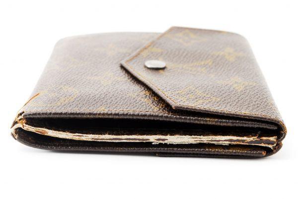本物  ルイヴィトン LOUIS VUITTON オリガミ モノグラム 二つ折り 財布 c000118_画像3