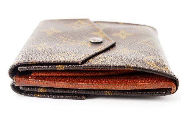 本物 ルイヴィトン LOUIS VUITTON オリガミ モノグラム 二つ折り 財布 c000113_画像4