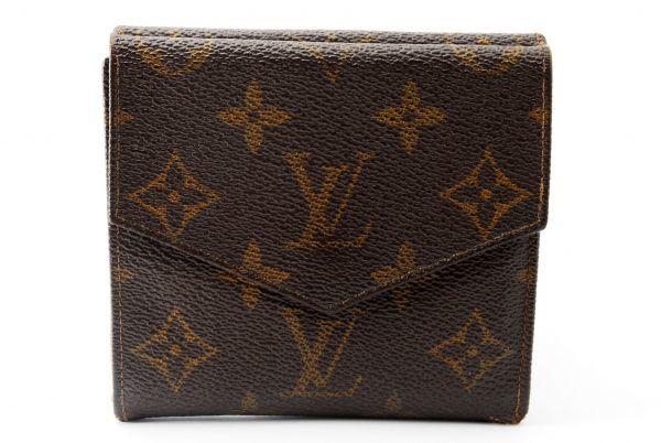 本物  ルイヴィトン LOUIS VUITTON オリガミ モノグラム 二つ折り 財布 c000118_画像2