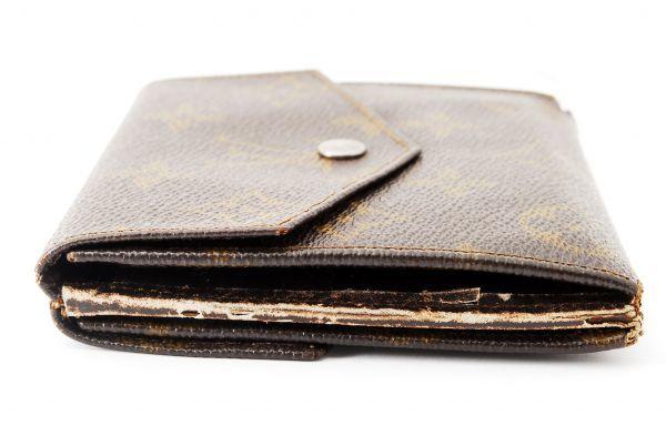 本物  ルイヴィトン LOUIS VUITTON オリガミ モノグラム 二つ折り 財布 c000118_画像4