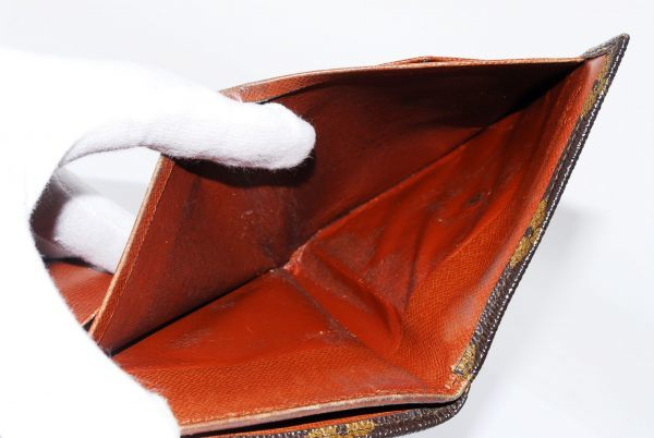 本物 ルイヴィトン LOUIS VUITTON オリガミ モノグラム 二つ折り 財布 c000113_画像10