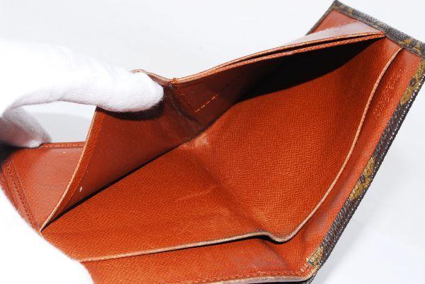 本物 ルイヴィトン LOUIS VUITTON オリガミ モノグラム 二つ折り 財布 c000113_画像9