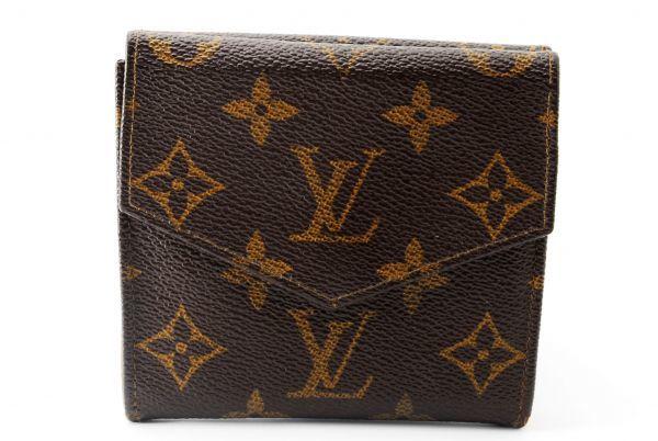 本物 ルイヴィトン LOUIS VUITTON オリガミ モノグラム 二つ折り 財布 c000113_画像2
