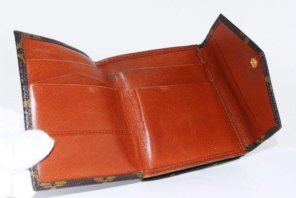 本物 ルイヴィトン LOUIS VUITTON オリガミ モノグラム 二つ折り 財布 c000113_画像8