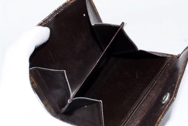 本物  ルイヴィトン LOUIS VUITTON オリガミ モノグラム 二つ折り 財布 c000118_画像10