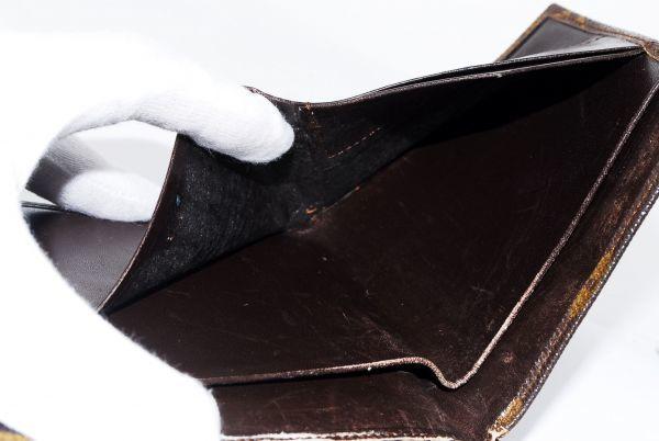 本物  ルイヴィトン LOUIS VUITTON オリガミ モノグラム 二つ折り 財布 c000118_画像8