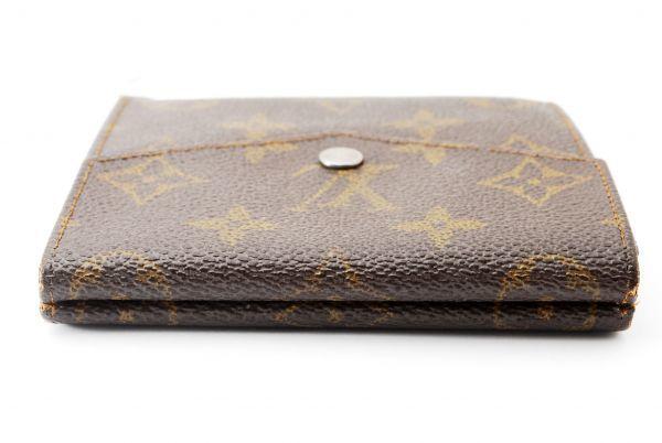 本物  ルイヴィトン LOUIS VUITTON オリガミ モノグラム 二つ折り 財布 c000118_画像5