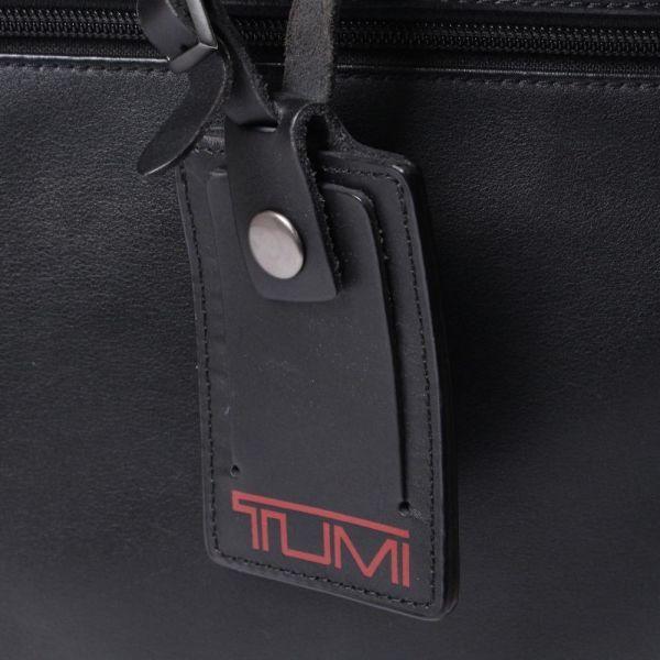 【中古】TUMI バッグ ブラック 無地 レザー ビジネスバッグ ブリーフケース c100100_画像2