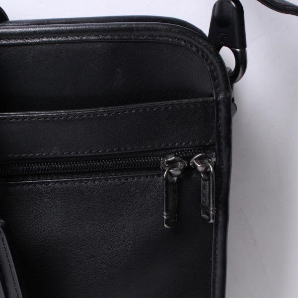 【中古】TUMI バッグ ブラック 無地 レザー ビジネスバッグ ブリーフケース c100100_画像3