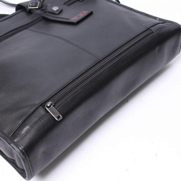 【中古】TUMI バッグ ブラック 無地 レザー ビジネスバッグ ブリーフケース c100100_画像8