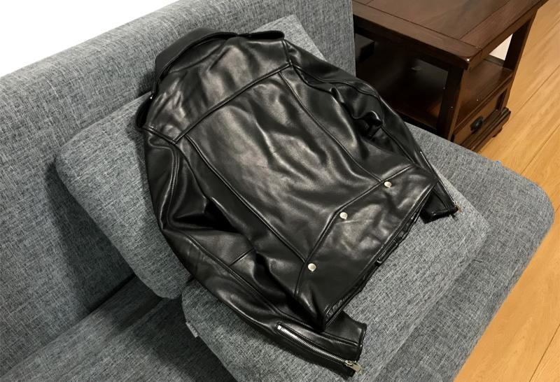 高品質 紳士 極美品 高級のシープスキン100% 上層羊の皮 本革ジャケットレディース ショートジャケット ライダース 選択可KM269_画像3