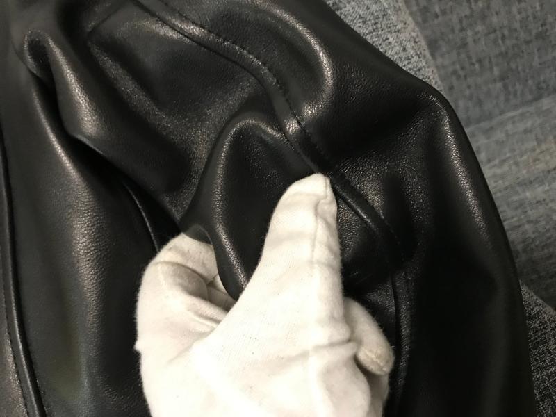 高品質 紳士 極美品 高級のシープスキン100% 上層羊の皮 本革ジャケットレディース ショートジャケット ライダース 選択可KM269_画像6