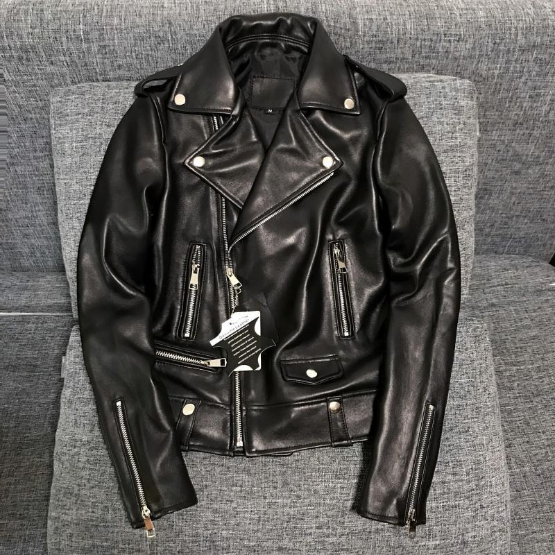 高品質 紳士 極美品 高級のシープスキン100% 上層羊の皮 本革ジャケットレディース ショートジャケット ライダース 選択可KM269
