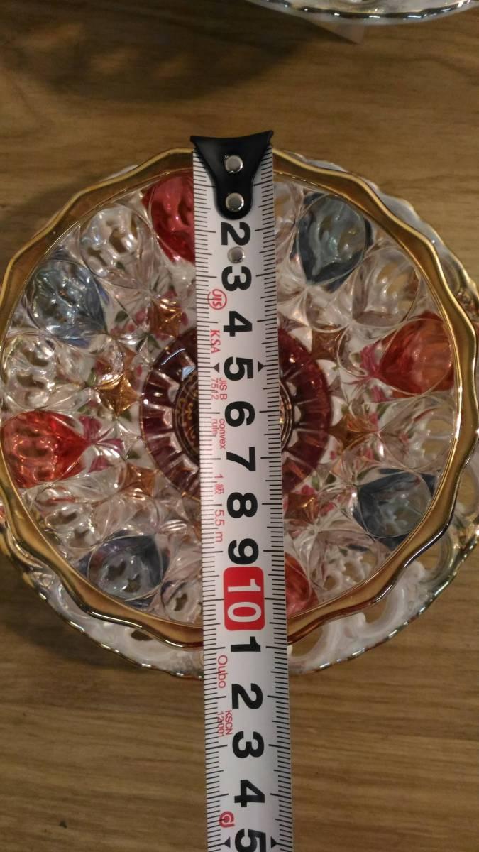 〔FuY514〕大橋陶器 ゴールデンファンタジー ガラスカップ&ソーサー 5客セット アンティーク品 100サイズ_画像8