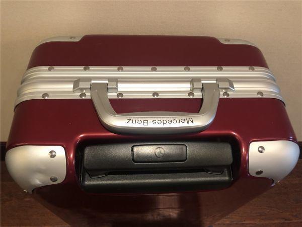 定価12万.最高級※メルセデス・ベンツ/Mercedes-Benz アルミフレーム・軽量/静音・オリジナル・スーツケース・キャリーケース・赤_画像7