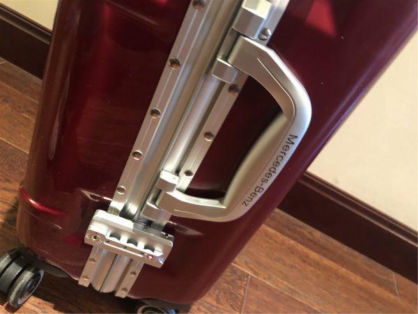 定価12万.最高級※メルセデス・ベンツ/Mercedes-Benz アルミフレーム・軽量/静音・オリジナル・スーツケース・キャリーケース・赤_画像8