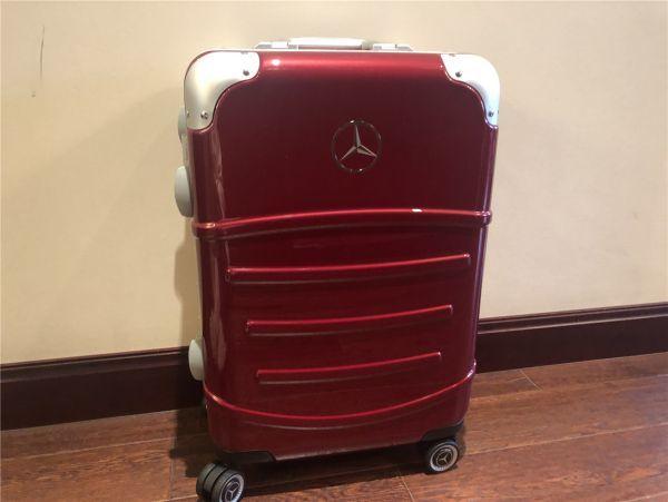 定価12万.最高級※メルセデス・ベンツ/Mercedes-Benz アルミフレーム・軽量/静音・オリジナル・スーツケース・キャリーケース・赤