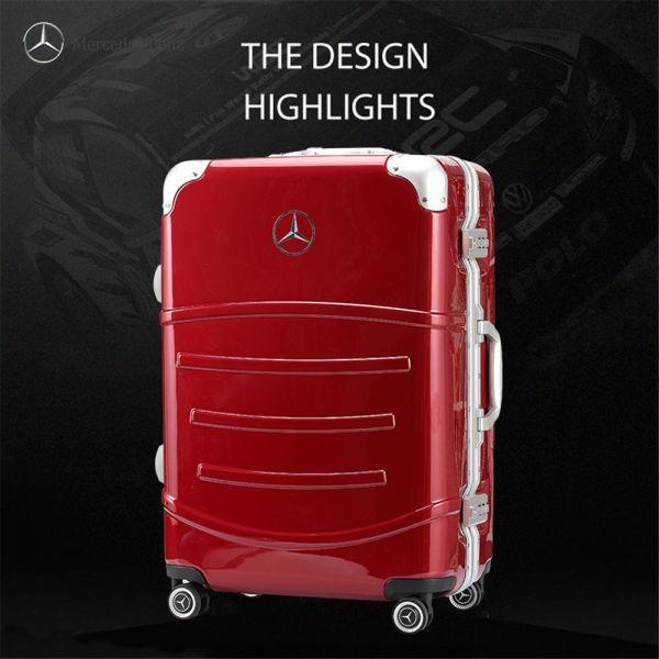 定価12万.最高級※メルセデス・ベンツ/Mercedes-Benz アルミフレーム・軽量/静音・オリジナル・スーツケース・キャリーケース・赤_画像2