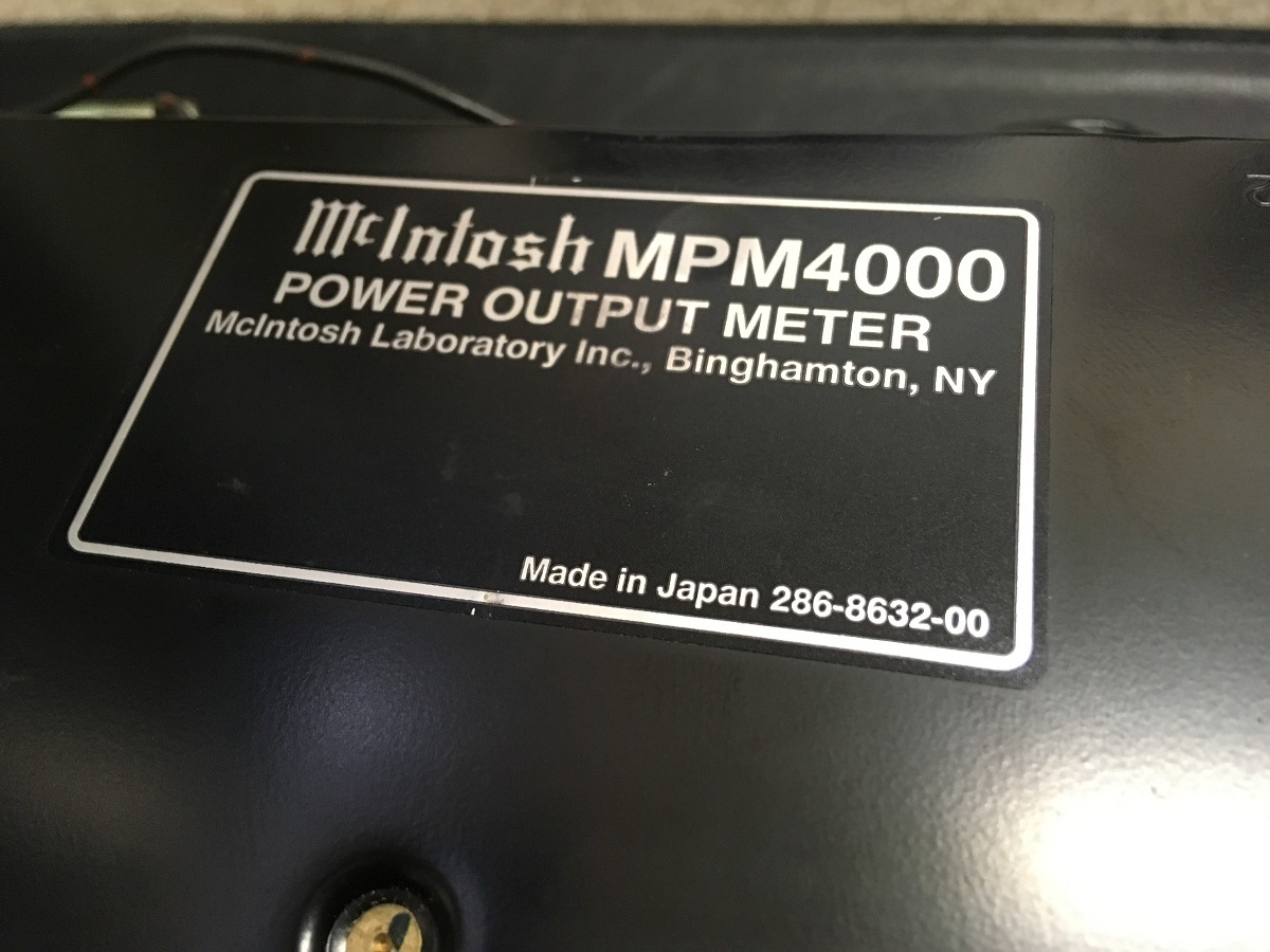 【希少】マッキントッシュ MPM4000 パワーアウトプットメーター☆ Mcintosh _画像3