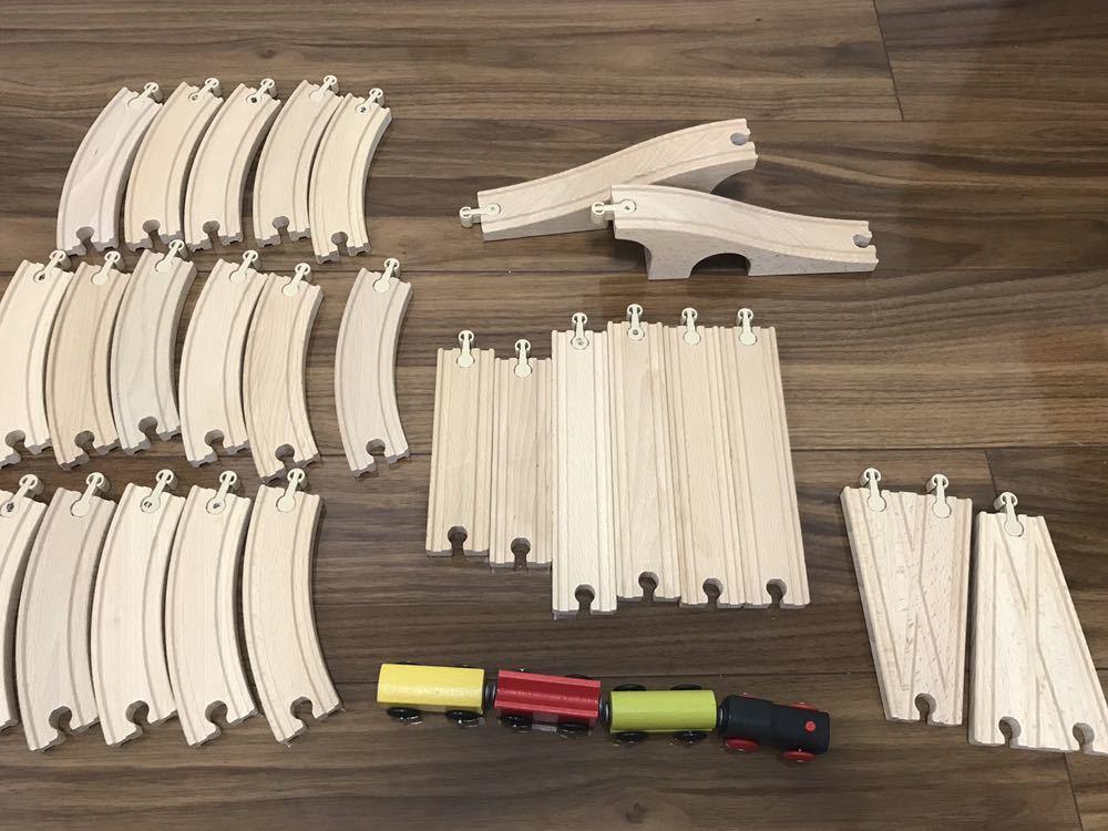 IKEA 木製レール 木のおもちゃ