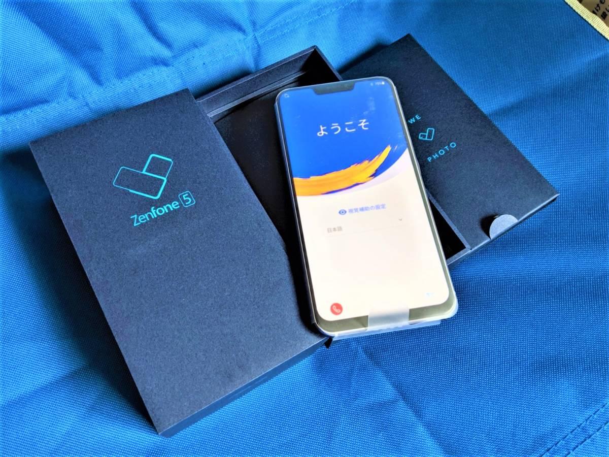 【極美品】 良品 SIMフリー ASUS Zenfone 5 ZE620KL メーカー保証付き シルバー国内版