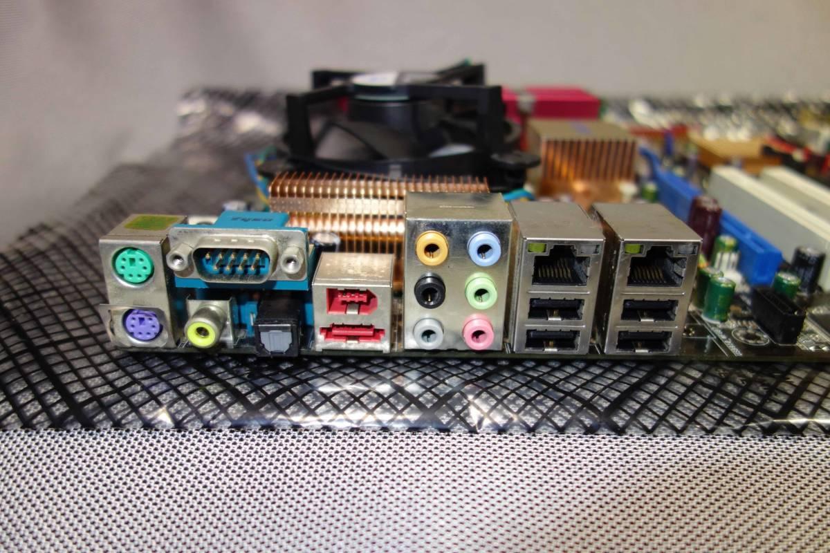 ASUS P5B DELUXE+Core2 Duo+3GBメモリー+HD2600XTグラフィックカード付属 動作品 _画像3