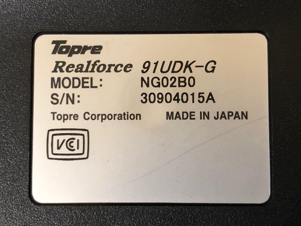 東プレ Topre REALFORCE 91UDK-G USBキーボード _画像6