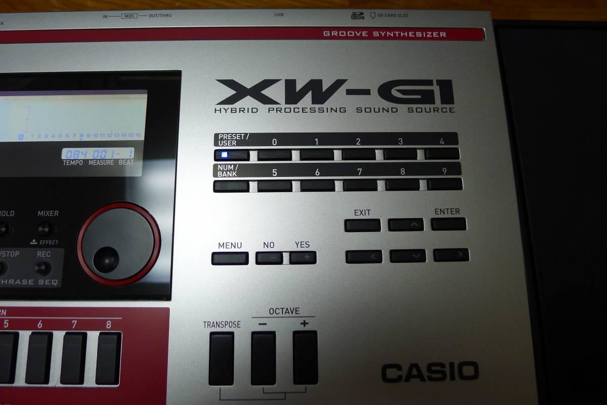 casio XW-G1 カシオシンセサイザー 61鍵盤_画像4